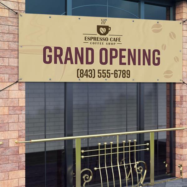 Grand Opening Vinyl Banner