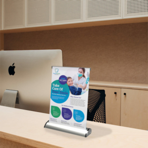 Mini Table Top Banner Stand