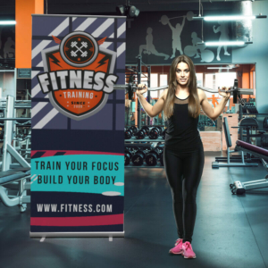 Fitness Standard Retractable Banner Stand