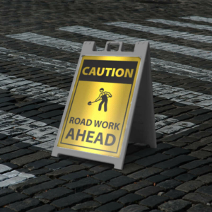 Reflective Sidewalk A-Frame Sign